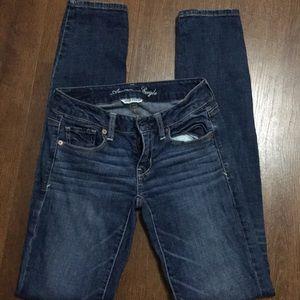 American Eagle skinny jeans super stretch Sz o